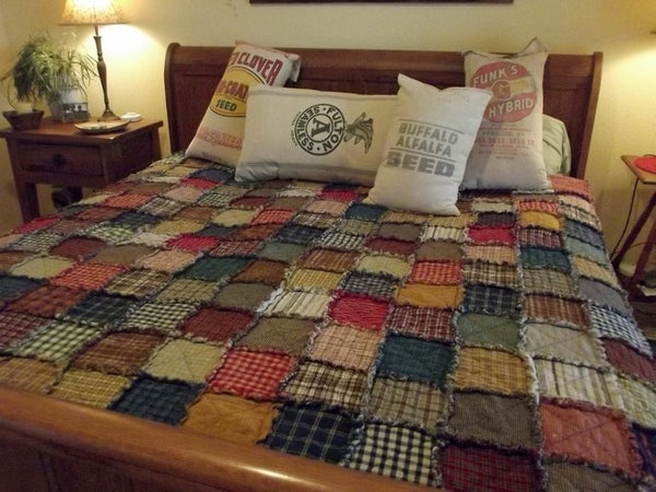 Image of Queen Size Custom Rag Quilt - Made To Order