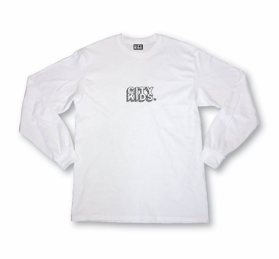 Image of DOODLE BOX LOGO LS TEE