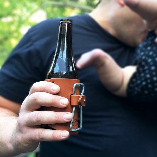 Image of Forge Leather Beer Holder + Bottle Opener