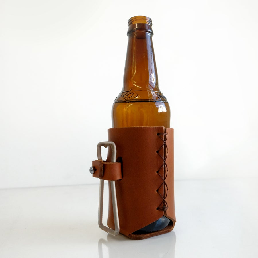 Image of Forge Leather Beer Holder + Bottle Opener
