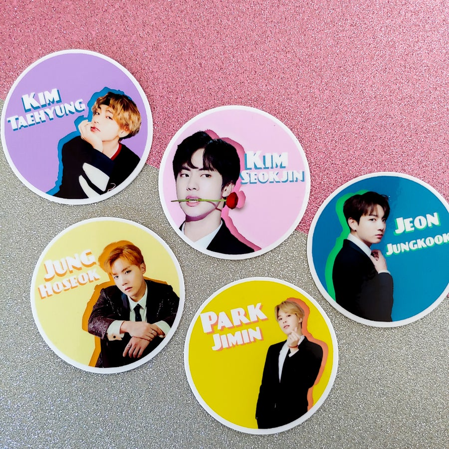 "Image of 2"" BTS Stickers"