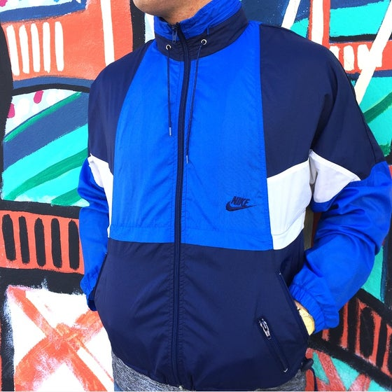 Image of Vintage 1990's Nike Air Colorblock Windbreaker Jacket Sz.S