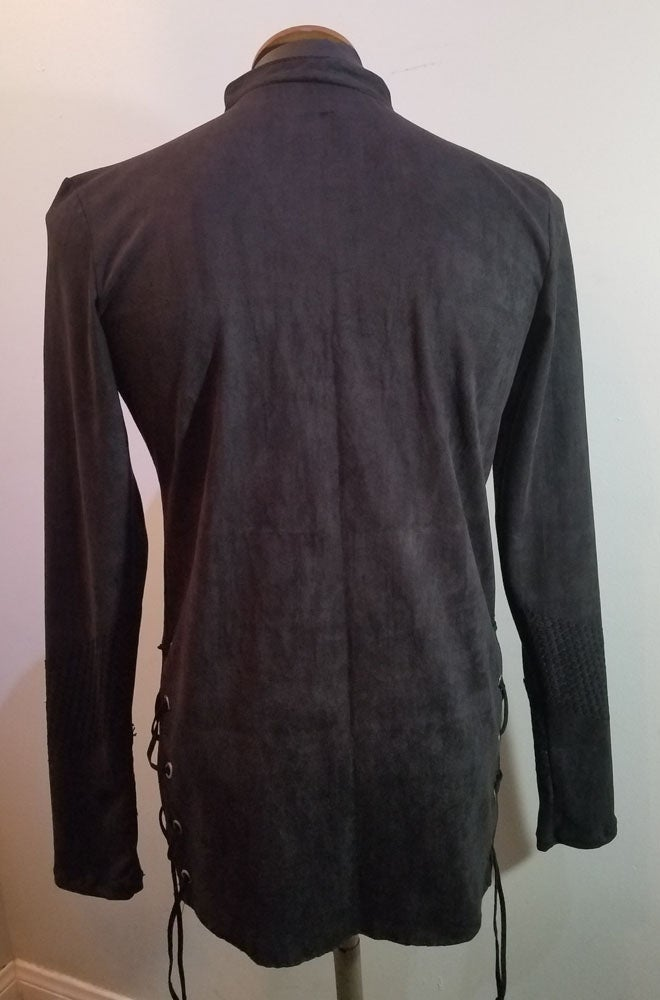 Image of Black Suede Tunic