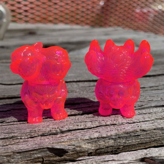 Image of RETINAL SCARRING CLEAR PINK MICRO FIGURE SET