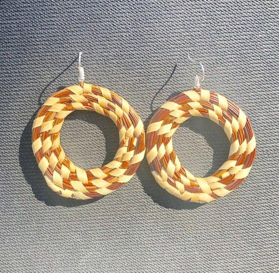 Image of Pine Needle Hoop Earrings