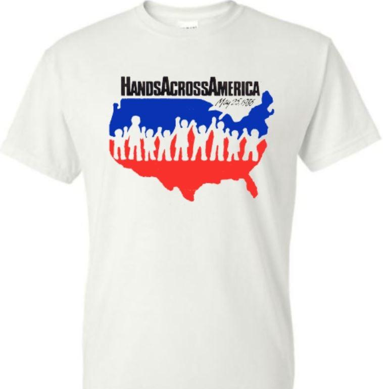 Image of Hands Across America 80's replica t-shirt