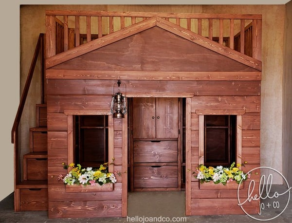 Image of Full Size Solid Wood Playhouse Bed