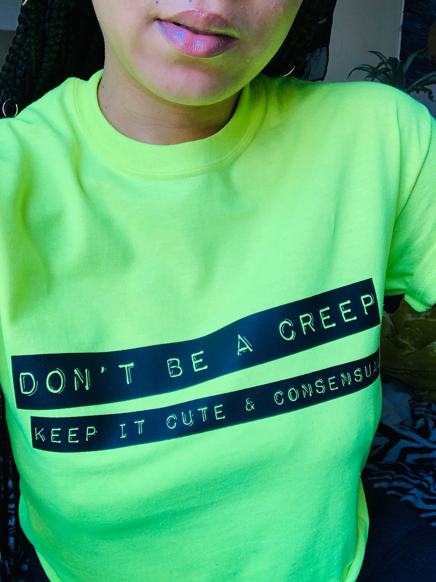 Image of Cute & Consensual tee in NEON