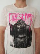 "Image of Finisterre ""Gorilla"" T-Shirt, ecru neppy mandarin, black and pink print"