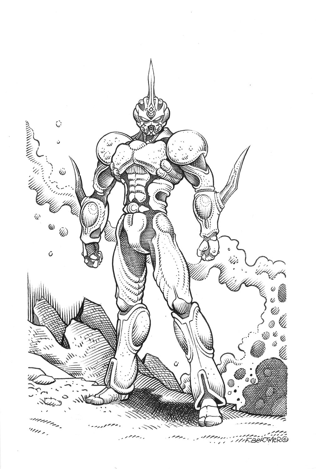 Image of Guyver - Original Art