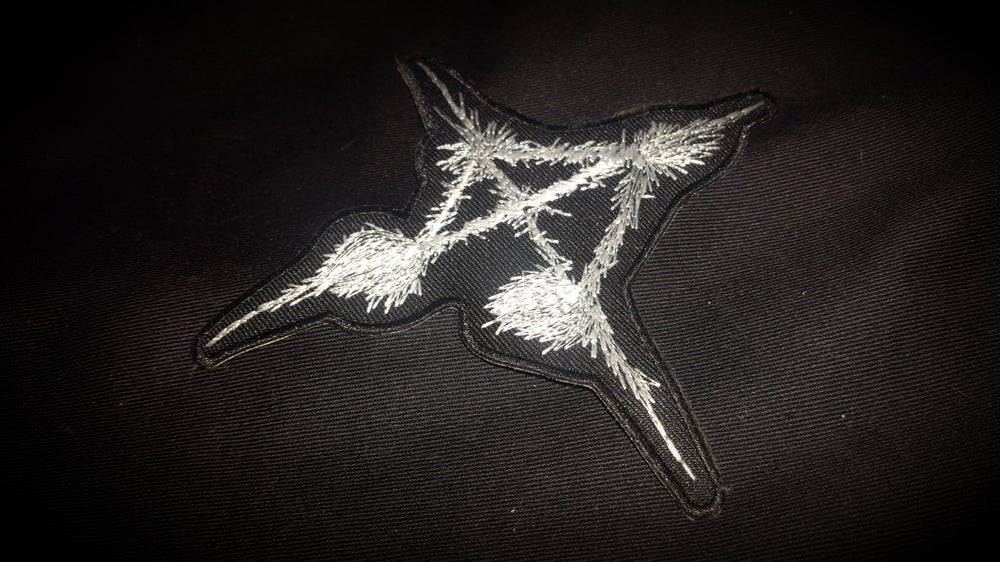 Image of Antimusic patch (embroidered)