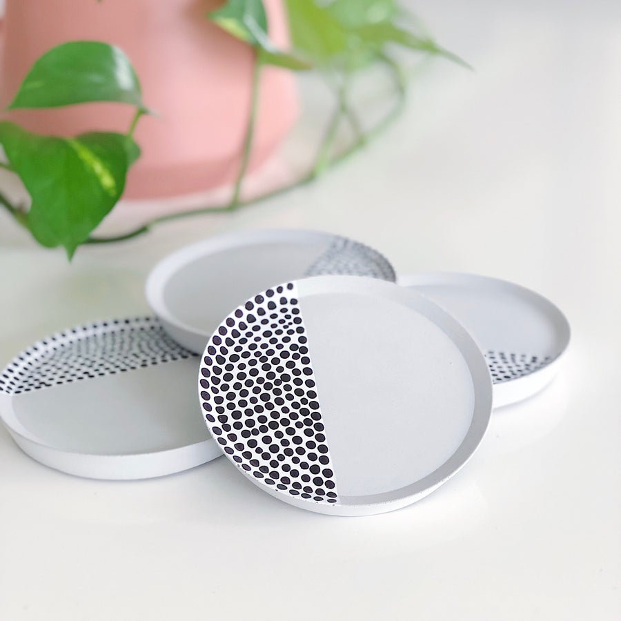 Image of Concrete Coasters | Tiny Dots