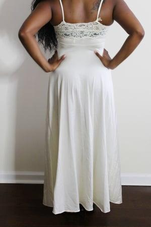 Image of Vintage White Lace Slip Dress