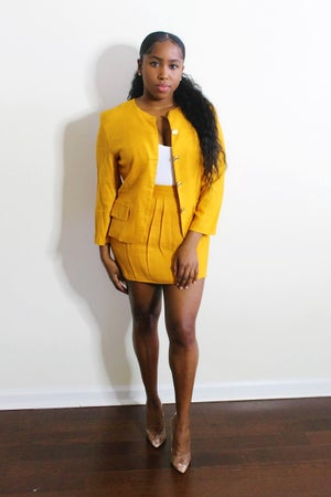 Image of Reconstructed Mustard 2-Piece Set