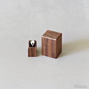 Image of Wood engagement ring box - proposal ring holder - minimalist ring display