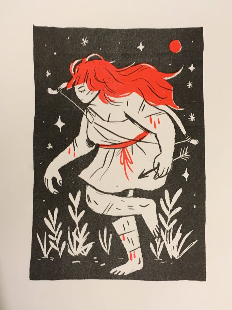 Image of BLOOD MOON / A3 risograph print