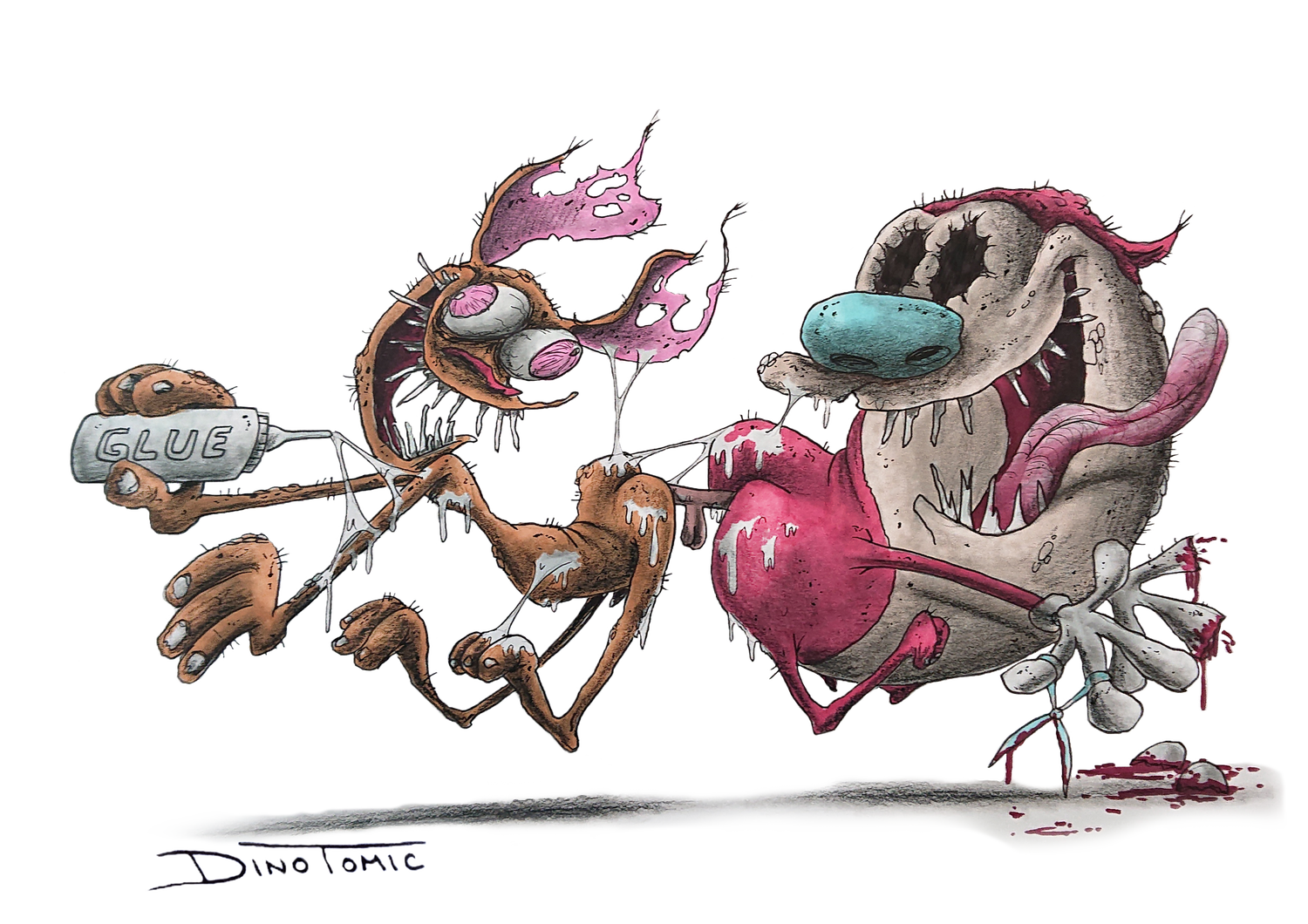 Image of #94 Ren And Stimpy Creepyfied