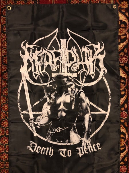 Image of Marduk - Death to peace/Heaven shall burn flag