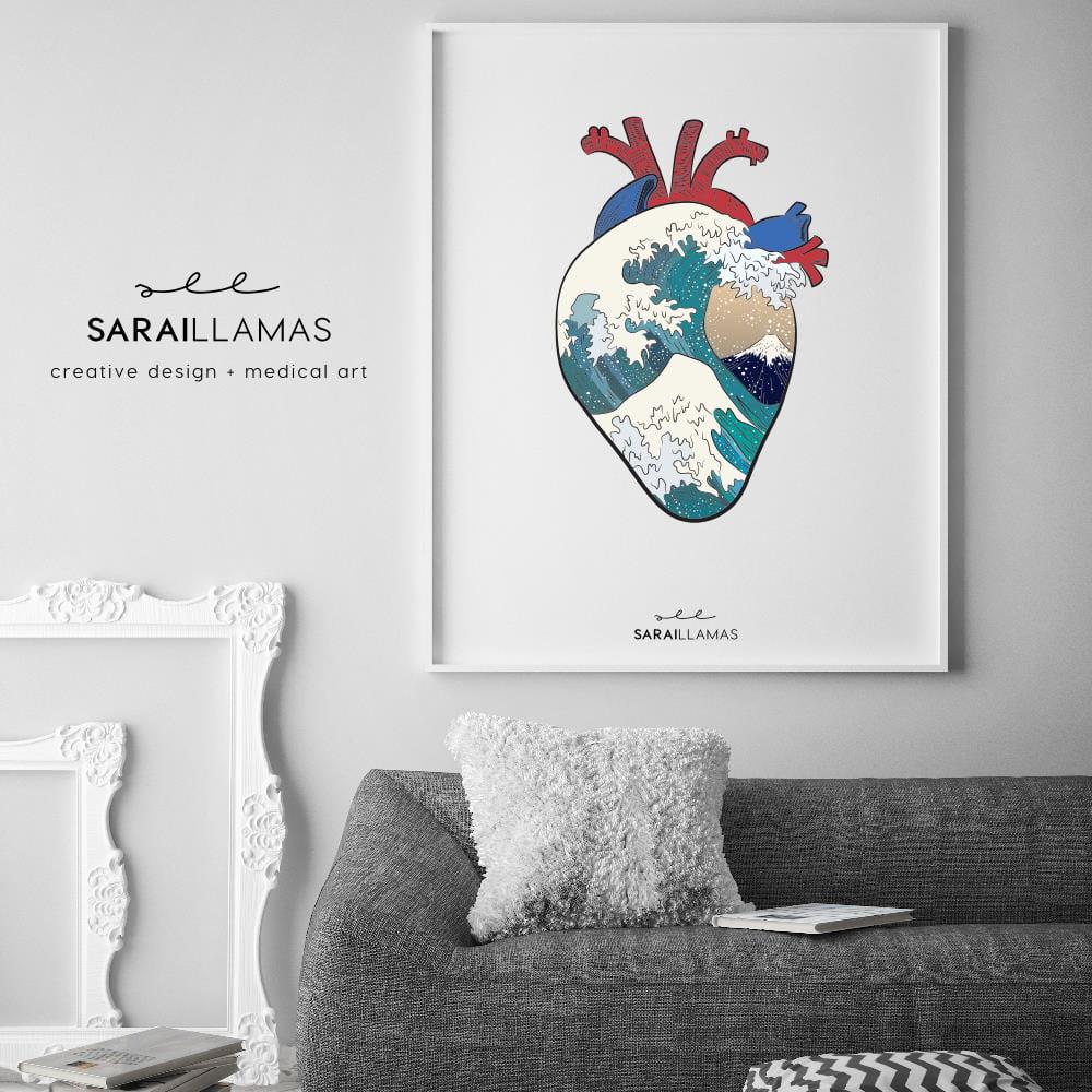 """Image of Lámina """"Kanagawa Heart"""""""