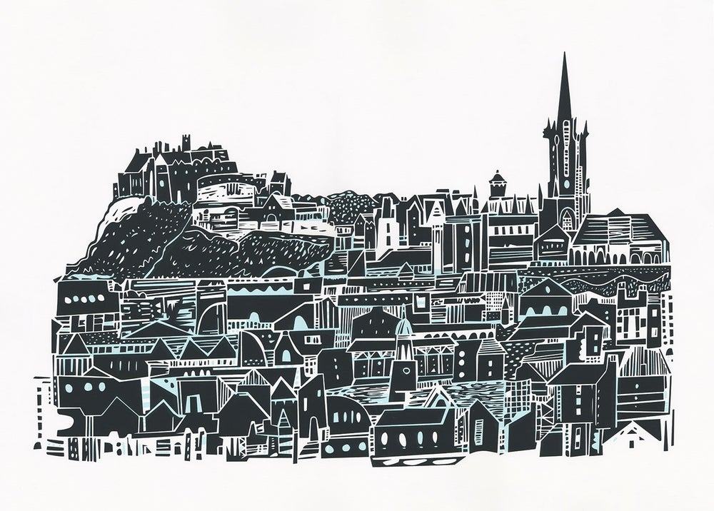 Image of Edinburgh City Skyline Screen Print