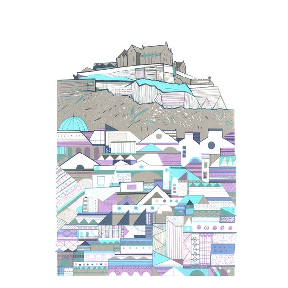 Image of Castle Patterns screen print
