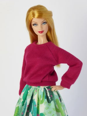 Image of LAST ITEMS Dark pink oversized sweater for Poppy Parker or Barbie (see description)