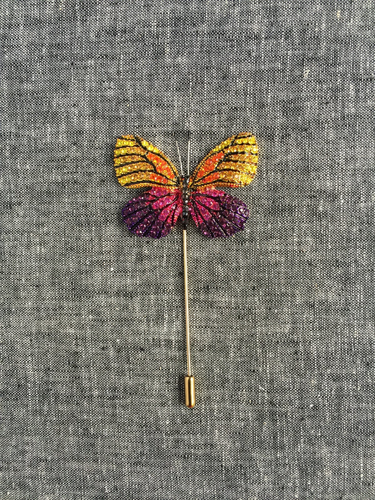Image of Butterfly Lapel Pin (Yellow, Pink, Purple)