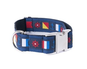 "Image of Nautical Flag/navy 1 1/2"" in the category  on Uncommon Paws."
