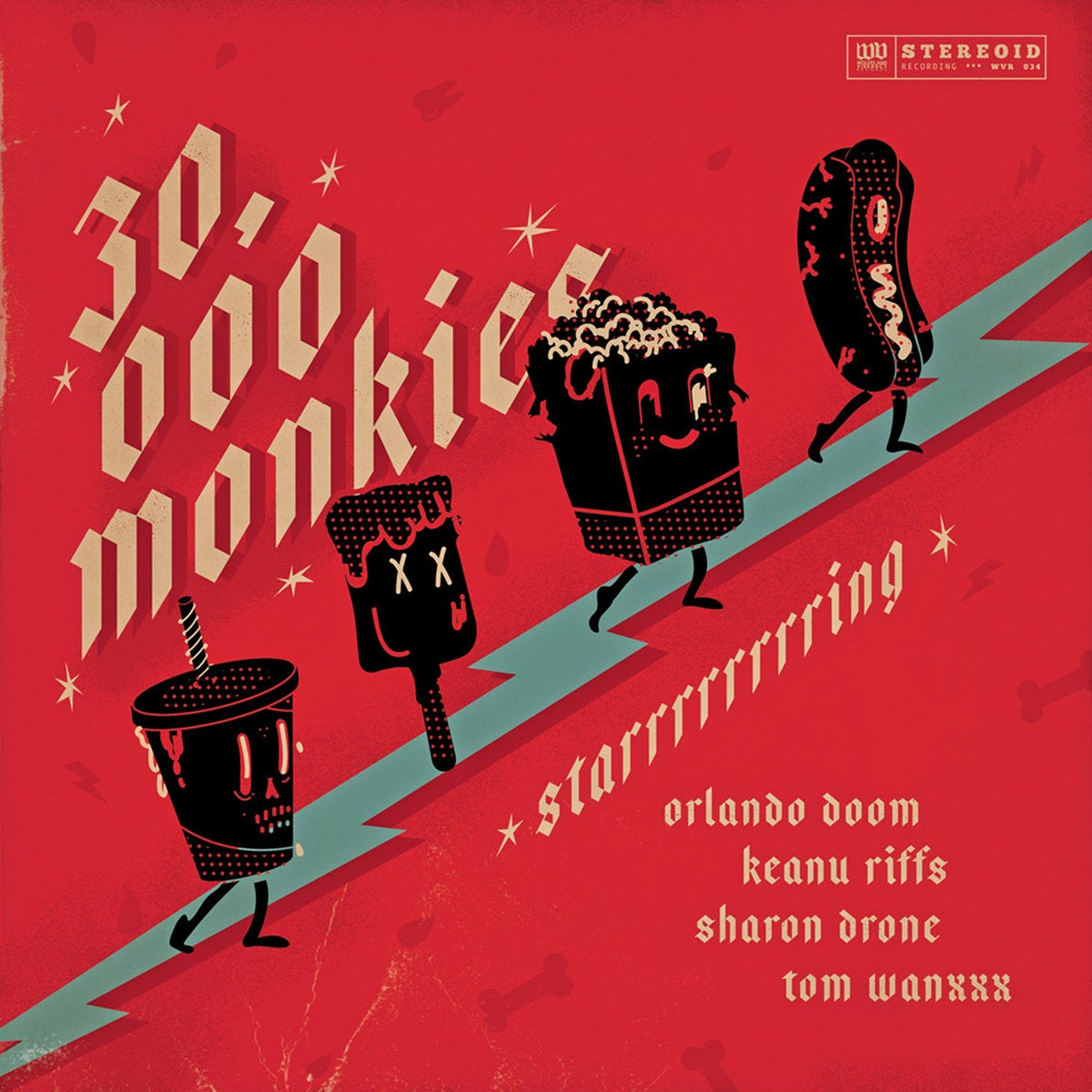 "Image of 30.000 Monkies 'Starrrrrrrring' 10"" EP"