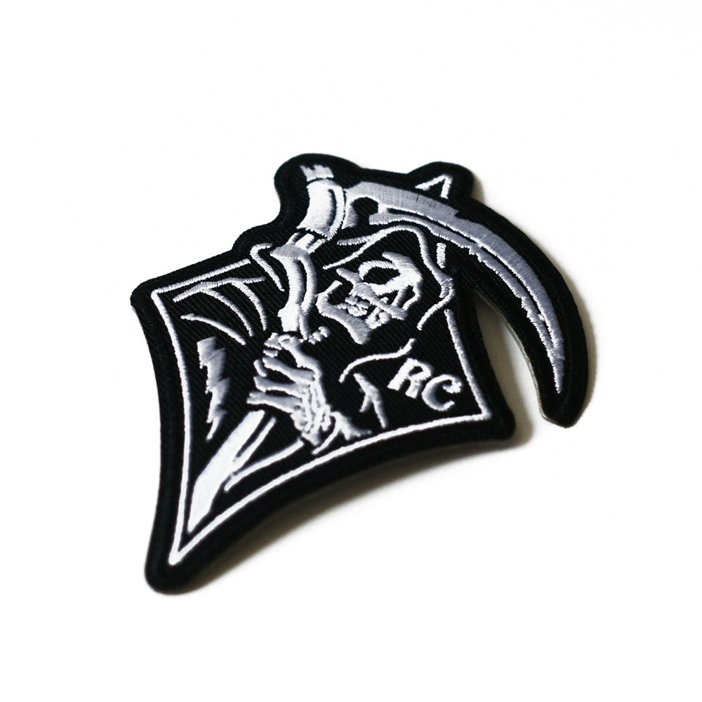 Image of Grim Rider Embroided Iron-On Patch