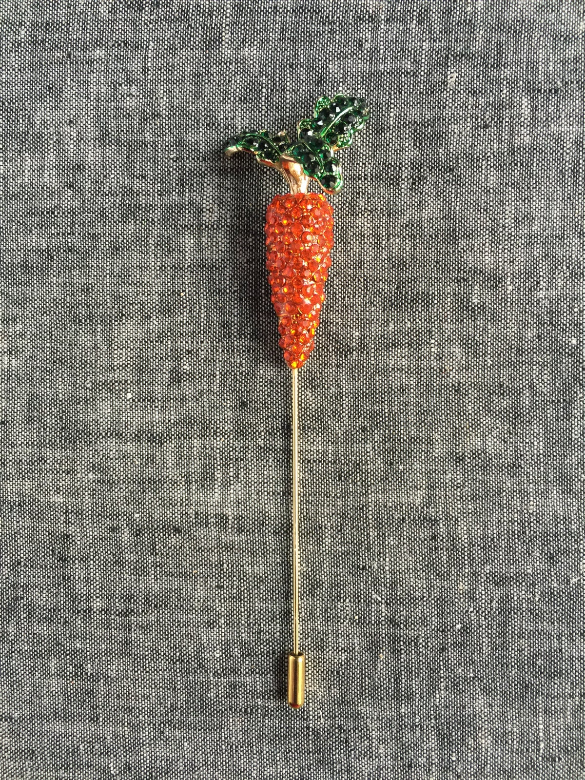 Image of Spring Carrot Lapel Pin (orange)