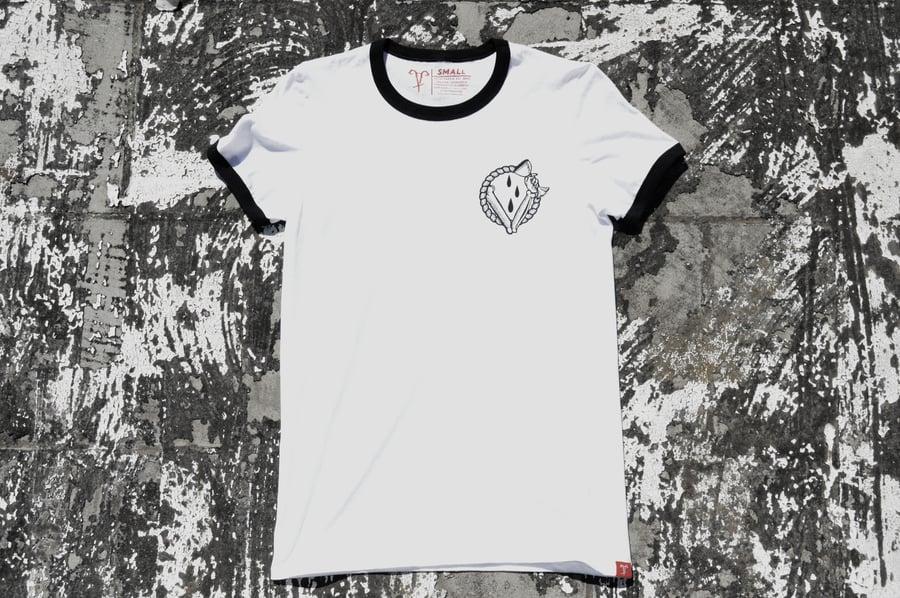 """Image of """"In Vino Veritas"""" White Ringer T-Shirt"""