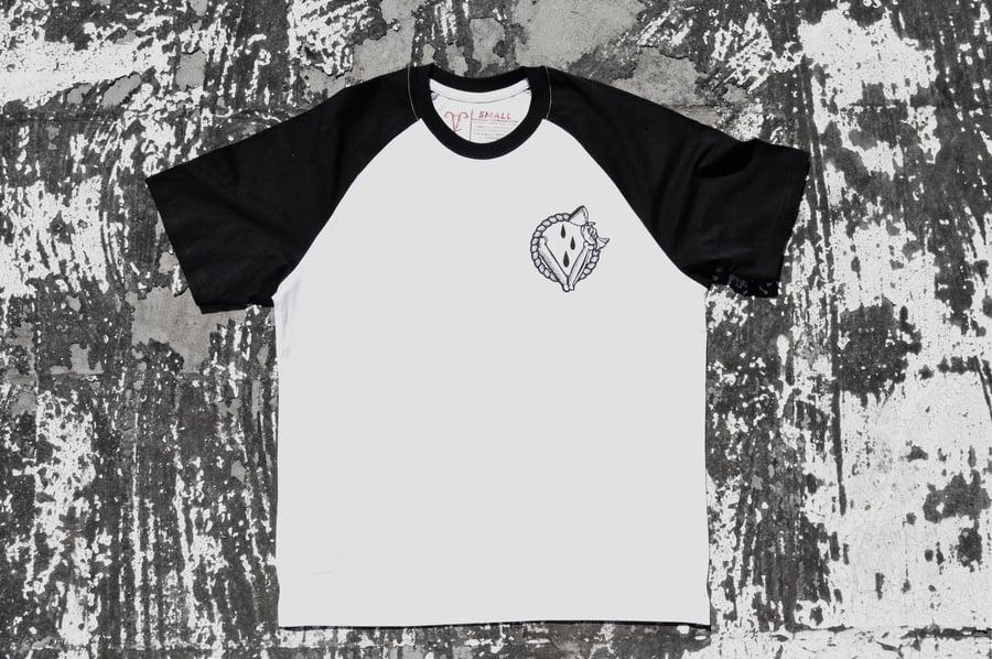 """Image of """"In Vino Veritas"""" White Raglan T-Shirt"""