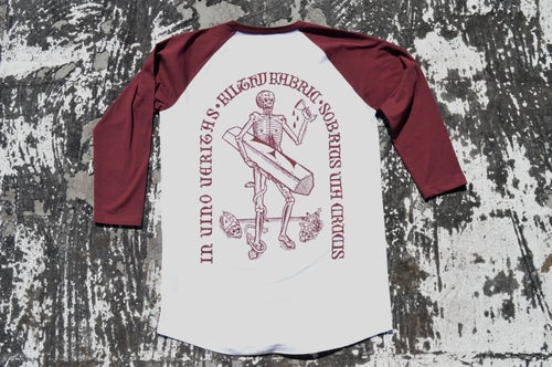 "Image of ""In Vino Veritas"" 3/4 Baseball T-Shirt"