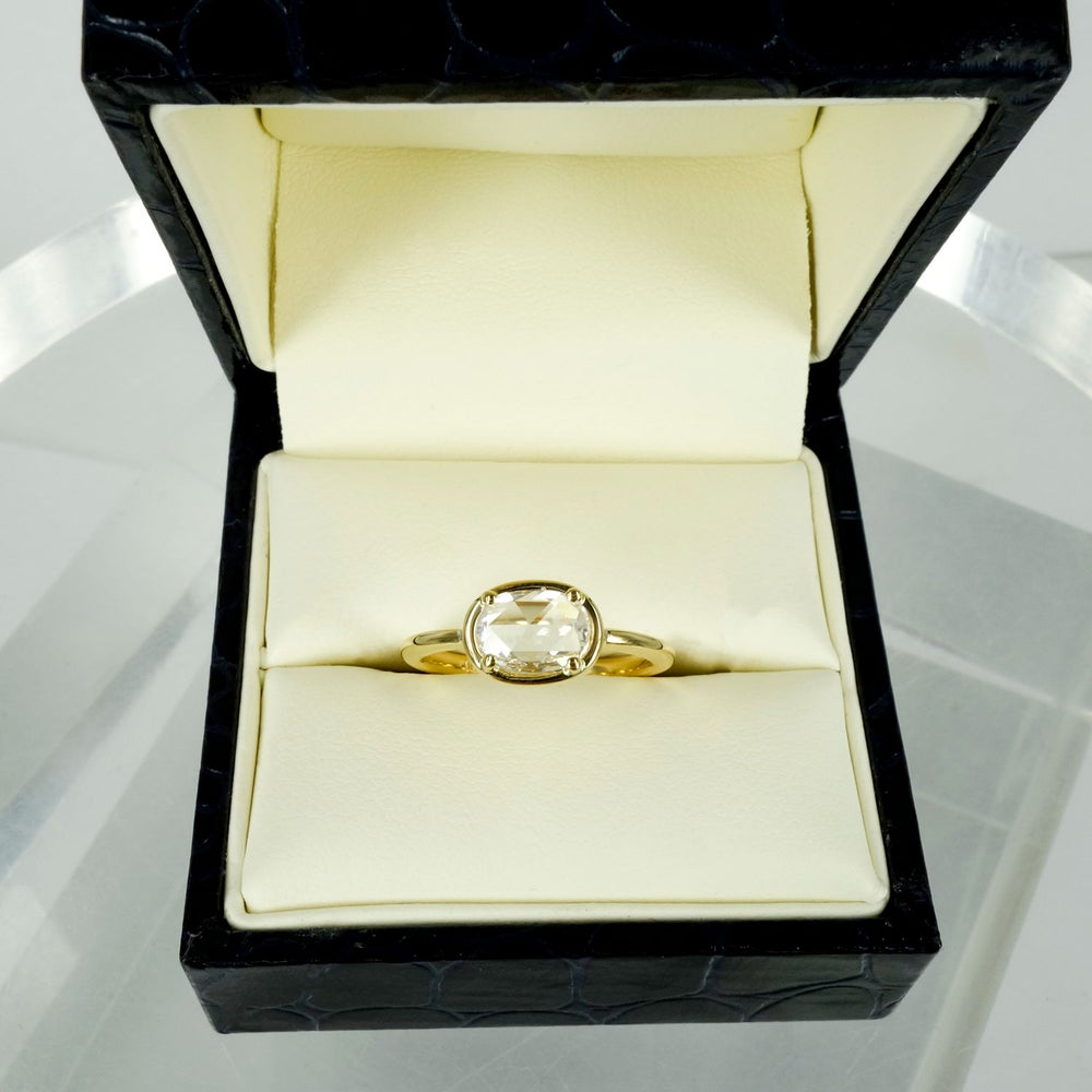 Image of  Contemporary rose cut diamond engagement ring - PJ5675