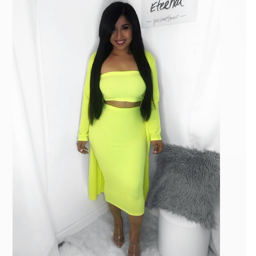 Image of Tube top neon 2 piece set