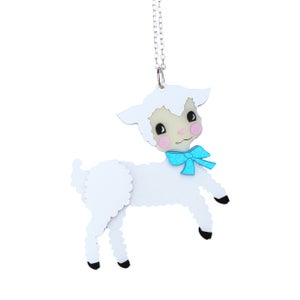 Retro Easter Lamb Necklace  - Black Heart Creatives
