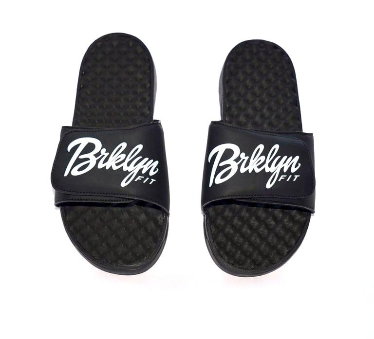 Image of Brklyn Fit® Slides [Black/White]