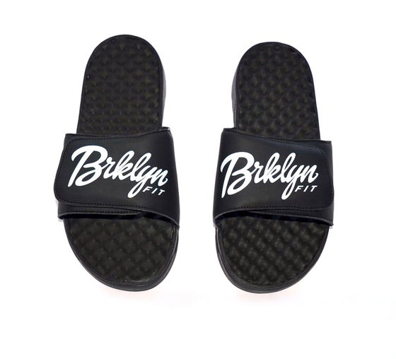 Image of Brklyn Fit® Slides [Black/White]