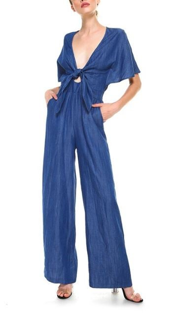 Image of That 70's Denim Jumpsuit