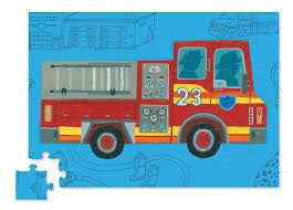 Fire Truck PUZZLE + toy - 48 pieces