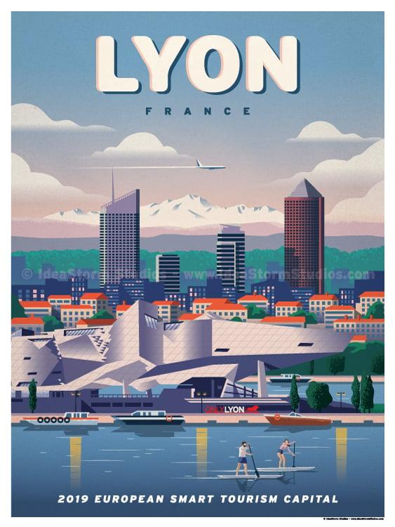 Image of Lyon Modern Poster