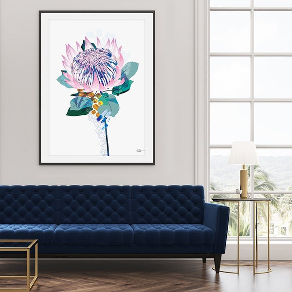 Image of King Protea - Art Print