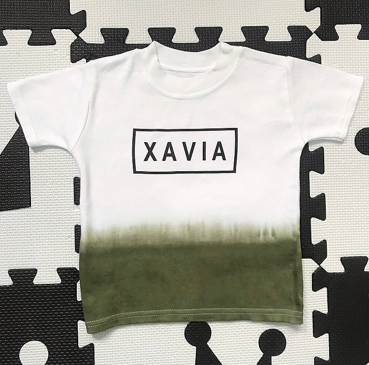 Image of Khaki Personalised Tee
