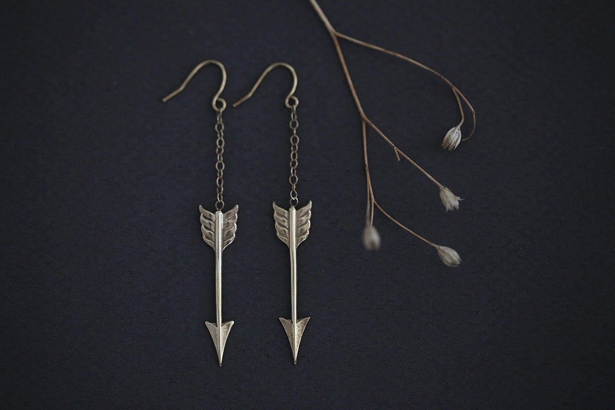 Image of arrow earrings (options available)