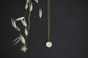Image of arrow disk necklace