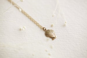 Image of (9ct gold or silver) scallop shell necklace