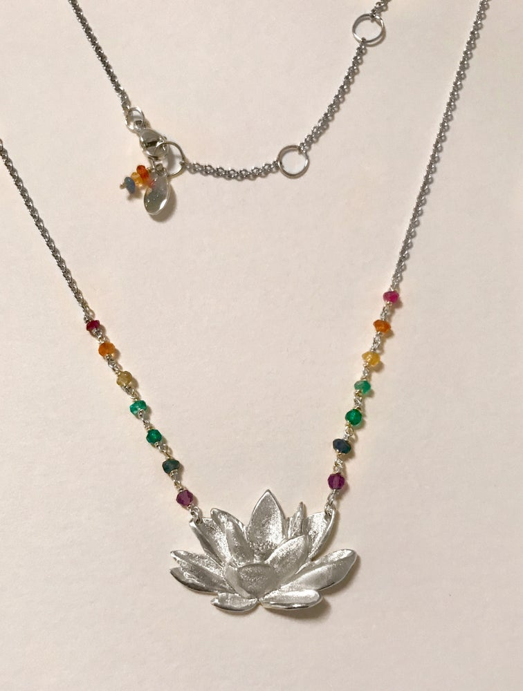 Image of Lotus Chakra Necklace