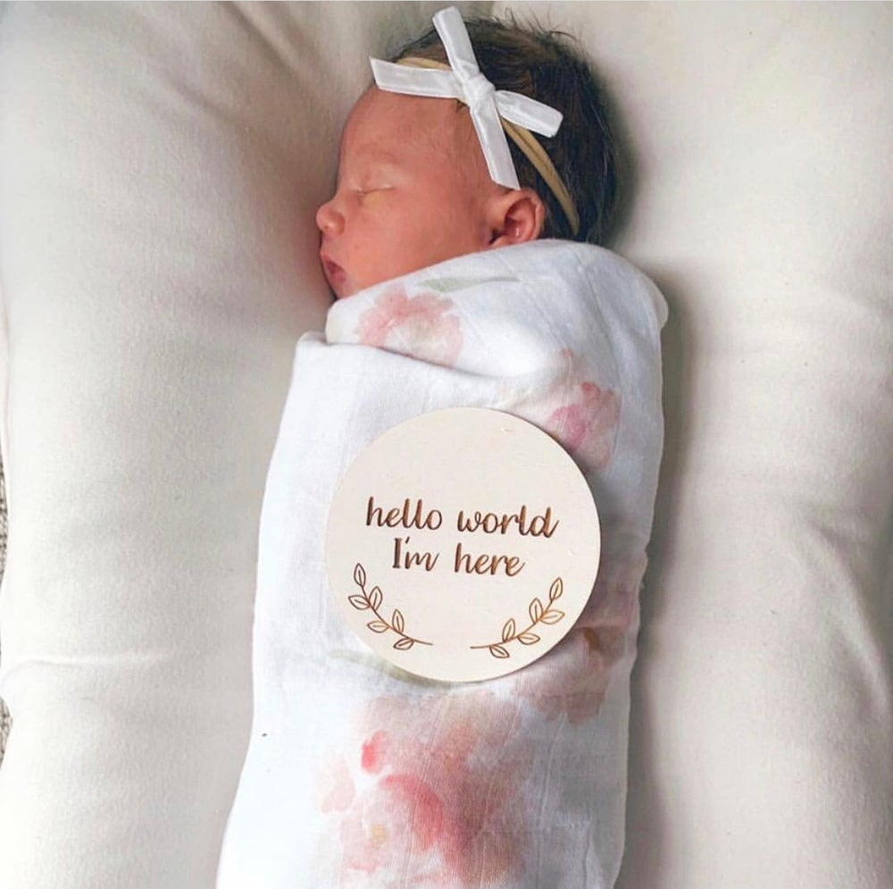 Image of Newborn Announcement Plaques