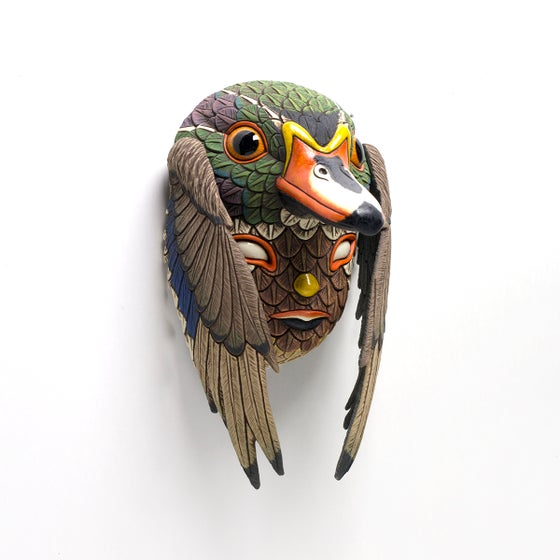 Image of Pre-order for Emily / Blend In Mask (wood duck)